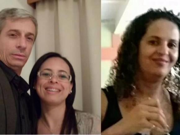 Carlos, Marcilene e Cristina foram atacados a pedradas pelos criminosos (Reprodução).
