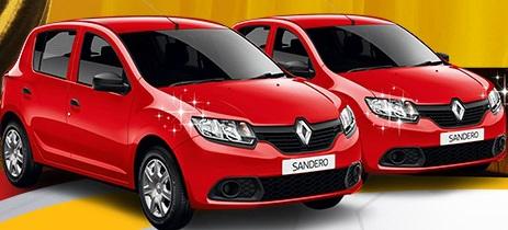 Campanha sorteará dois carros Sandero (Imagem Divulgação).