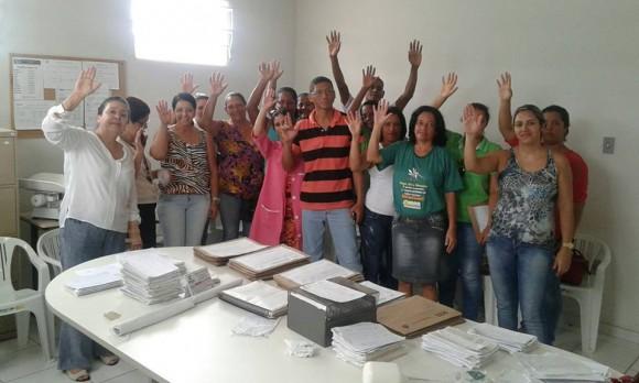 Servidores da Saúde em Buerarema deflagram greve (Foto Divulgação Sintesi).
