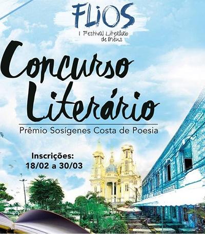 Cartaz concurso literário