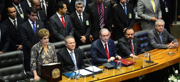 Dilma na abertura dos trabalhos legislativos, hoje (Foto Fábio Pozzebom/Ag. Brasil).