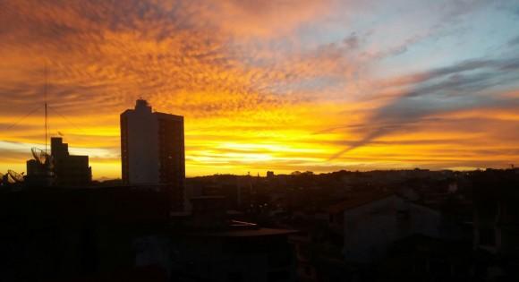 Pôr-do-sol em Itabuna em imagem captada pelo articulista - e também fotógrafo - Marco Wense.