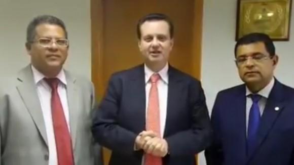 Wenceslau, Kassab e Davidson discutiram o Pacão de Itabuna.