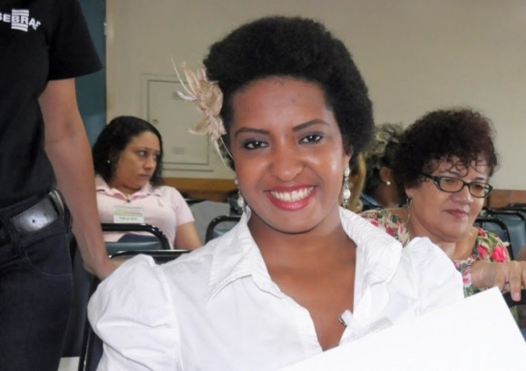 Cláudia participou de palestra com foco na gestão de negócios (Foto Maurício Maron).