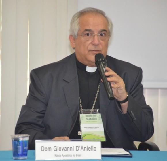 Núncio apostólico D´Anielo estará em Itabuna (Foto Divulgação).