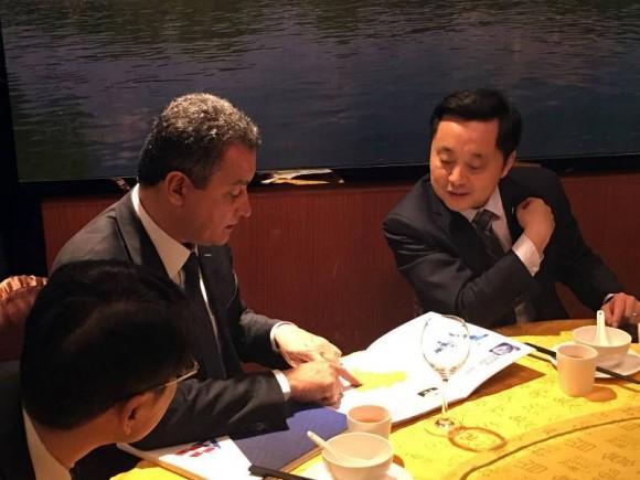 Rui esteve com empresários chineses no início de março.