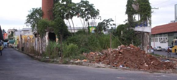 Terreno dos Kaufmann tem matagal, entulhos e ruínas (Foto Gidelzo Silva).
