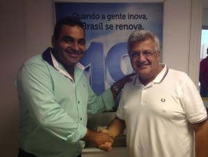 Elinho e João Carlos Bacelar, do Podemos.