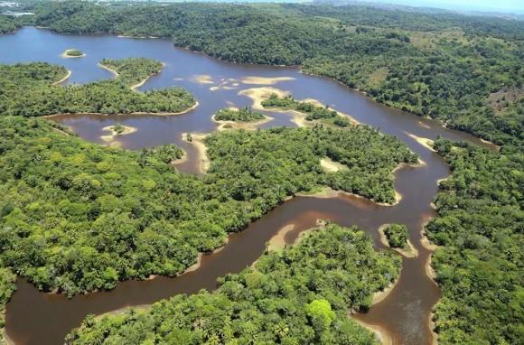 Manancial do Iguape é o principal do município (Foto José Nazal feita em dezembro de 2015).