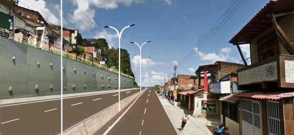 Perspectiva de alargamento da Avenida Juracy Magalhães (Divulgação).