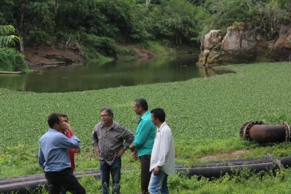 Aldenes Meira, Ricardo Campos e Vane do Renascer em visita a Castelo Novo (Foto Gabriel Oliveira).