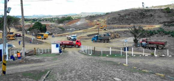 Obras da Barragem do Colônia ganharam novo ritmo, segundo governo.