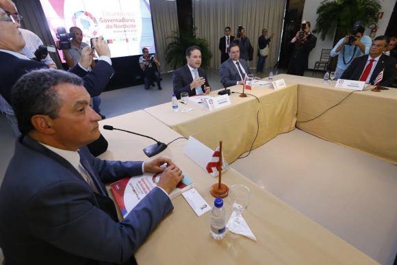 Governadores nordestinos definiram pauta comum em encontro (Foto Agência Alagoas).