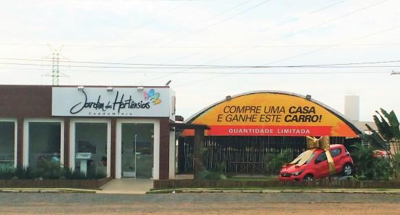Ação promocional garante carro zero a quem compra unidade de condomínio (Foto Pimenta).