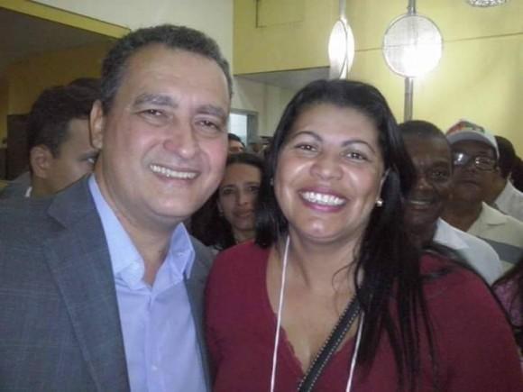 Silvana Farias ao lado do governador Rui Costa (Reprodução).
