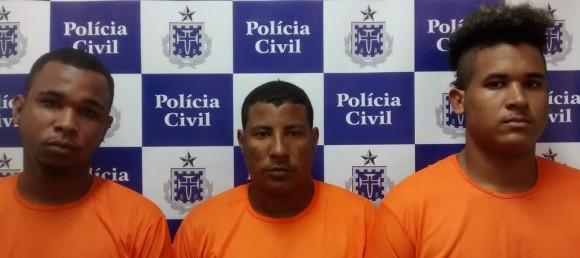 Danilo, Emerson e Lucas são suspeitos de toque de recolher em Salvador (Foto Divulgação).