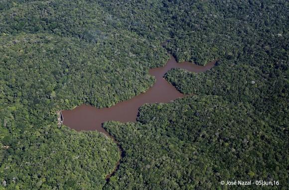 Vista aérea da Represa da Esperança, em Ilhéus (Foto José Nazal).