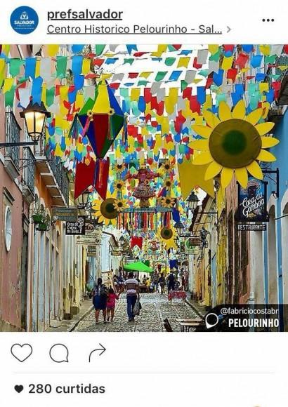A postagem da Prefeitura de Salvador...