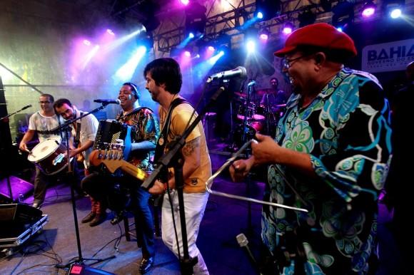 Trio Virgulino em apresentação no Pelourinho (Foto Elói Correa/GovBA).