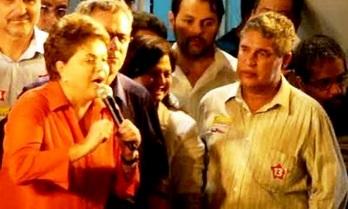 Dilma e o deputado Rosemberg Pinto.