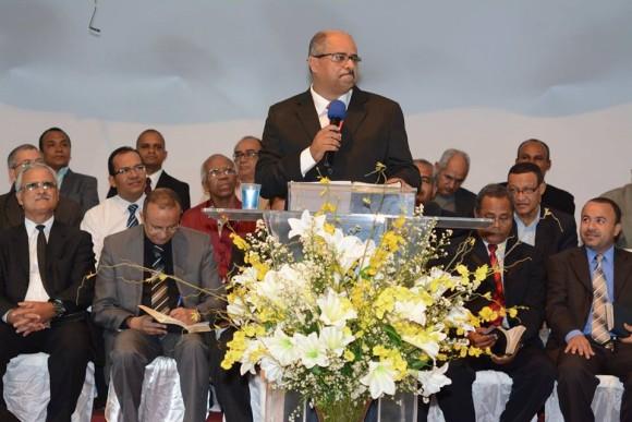 Geraldo Meireles lembrou do Pastor Hélio Lourenço durante durante posse na IBT (foto Antônio Carlos)