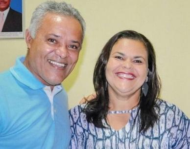 Si Dantas, candidata do DEM, ao lado do tucano José Reis, um dos pretendentes a vice.