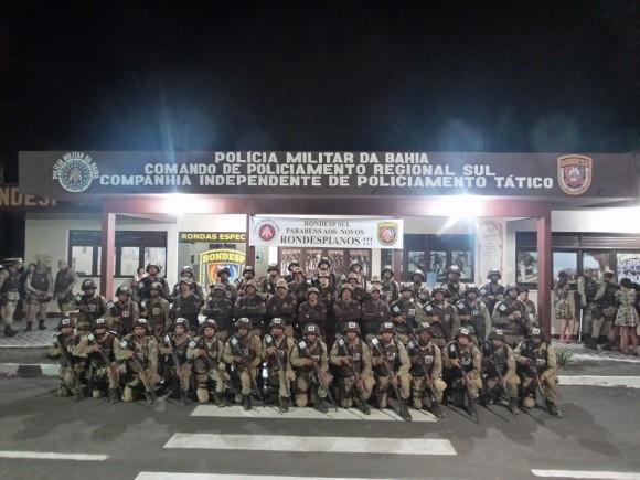 Os novos membros da Rondesp Sul, polícia tática da PM (Foto Divulgação).