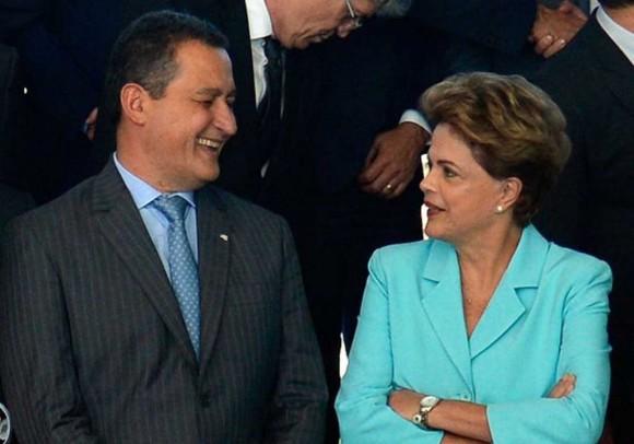 Governador Rui Costa com a presidente cassada, Dilma Rousseff.