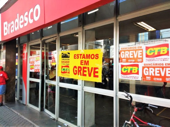 Greve geral fechará agências bancárias no sul da Bahia (Foto Pimenta).