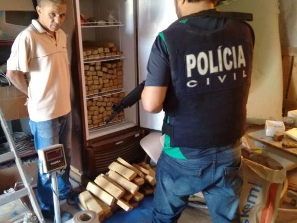 José Antônio foi preso com 300 quilos de maconha (Foto PC-BA).