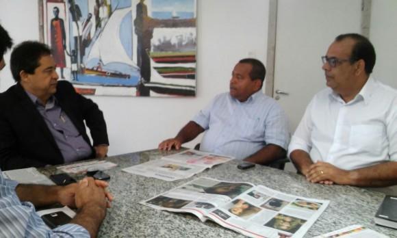 Alves, Anísio e Júlio durante audiência na Setur (Foto Divulgação).