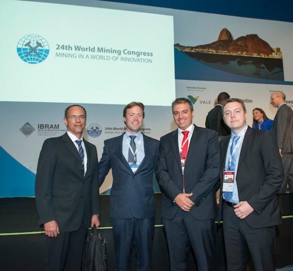 Executivos Claudio Menezes, Benedict Sobotka, Alberto Vieira e Erik Gaustad no congresso ( Foto Monique Cabral/Argosfoto).