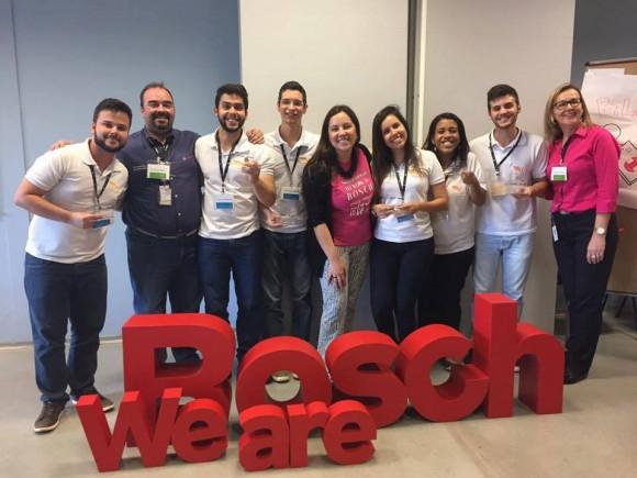 Equipe da Life Jr. Uesc com executivos da Bosch no Brasil (Foto Divulgação).