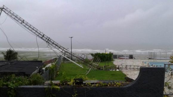 Forte ventania derrubou torre há mais de dois meses (Foto Marcelo JG Drone/Arquivo).