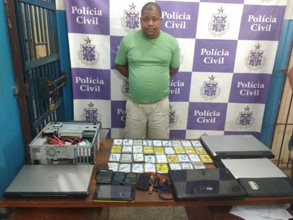 José Luís foi preso em flagrante neste sábado (Foto PC-BA).