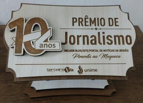 Pimenta foi mais votado na categoria blogs e sites de notícia.