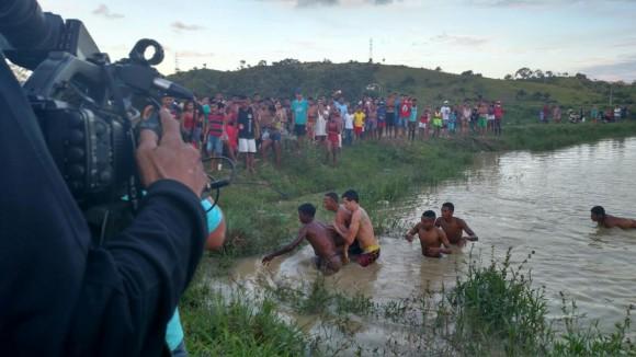 Ataque ocorreu durante cobertura de resgate de Leonardo em represa (Foto Wadson Santos).