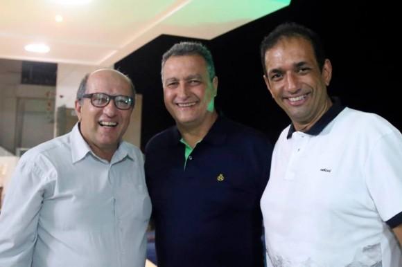 Nazal, Rui e Marão durante encontro em Ilhéus.