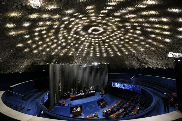 Plenário do Senado Federal, que vota hoje a PEC do Teto (Foto Fábio Pozzebom/Agência Brasil).